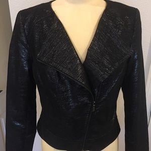 Laundry Black Metallic Short Jacket